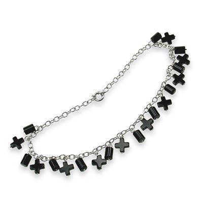 Moda necklace with onyx pendants gilardy online shop moda necklace with onyx pendants aloadofball Image collections