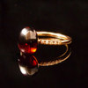 GILARDY GOCCIA ring 18Ct rosé gold with rhodolite and diamonds