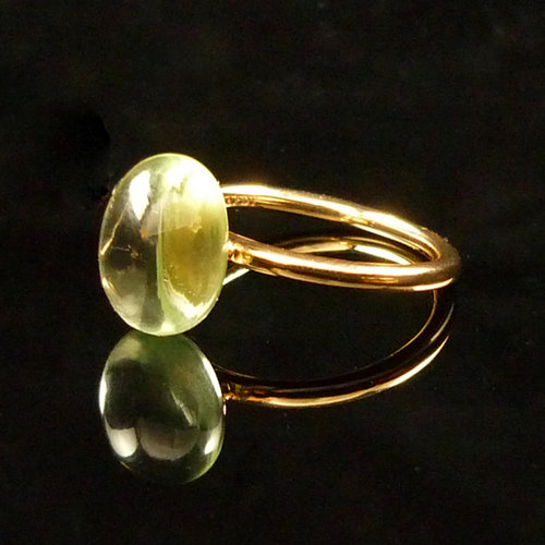 GILARDY GOCCIA ring 18Ct rosé gold with prasiolite
