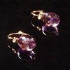 GILARDY GOCCIA earrings from 18Ct rosé gold with amethyst and cut diamonds