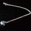 GILARDY GOCCIA necklace from 18Ct white gold with blue topaz and 0,02ct cut diamond