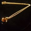 GILARDY GOCCIA necklace from 18Ct rosé gold withcairngorm and 0,02ct cut diamonds
