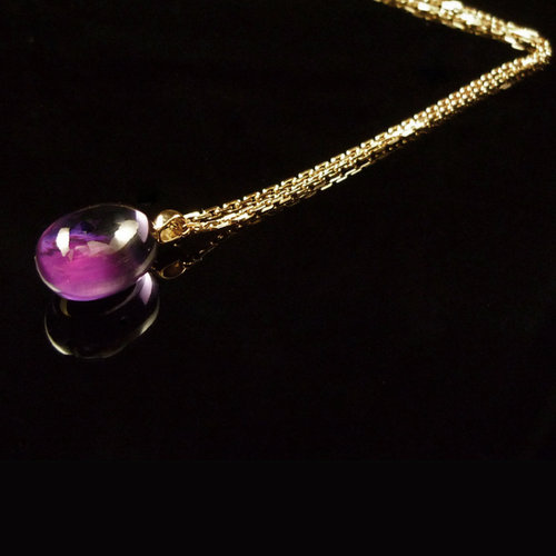 GILARDY GOCCIA necklace from 18Ct rosé gold with amethyst