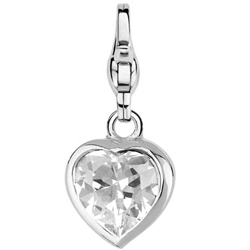 "Charming Ti Sento  Anhänger ""Stylish Heart White"" aus 925 Sterlingsilber - 8089ZI"