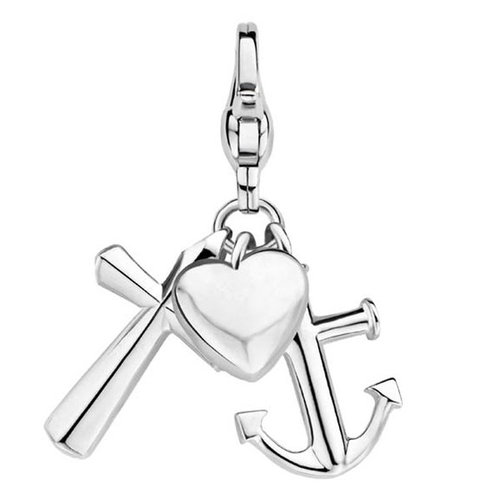 "Charming Ti Sento Anhänger ""Love, Hope, Faith"" aus 925 Sterlingsilber 8427SI"