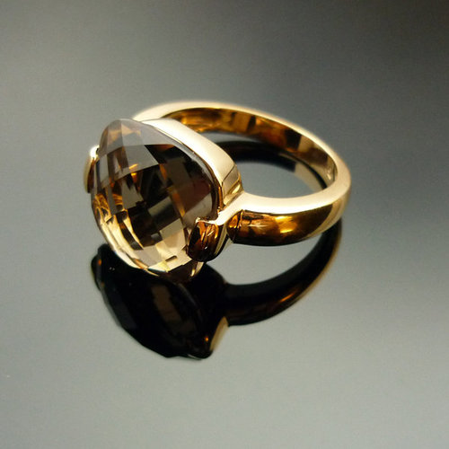 GILARDY CAPRI ring from 18Ct rosé gold with cairngorm