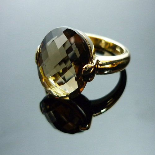 GILARDY CAPRI ring from 18Ct rosé gold with oval cairngorm