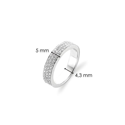Ti Sento Milano Ring 925 Sterlingsilver with zirconia - 1401ZI
