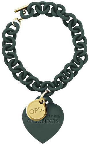 OPS!OBJECTS Bracelet dark green with yellowgold plated OPSBR-16-1800