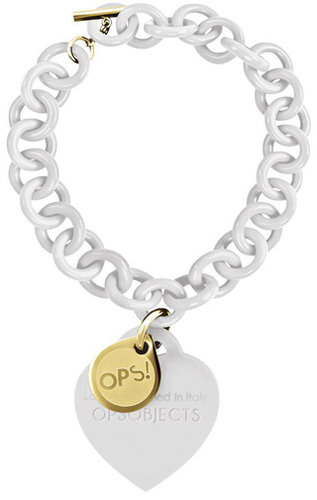 OPS!OBJECTS Bracelet ivory with yellowgold plated OPSBR-19-1800