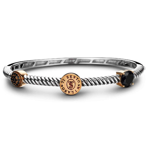 Ti Sento Milano bracelet 925 Sterlingsilver with black stones and Zirconia -  2784BR