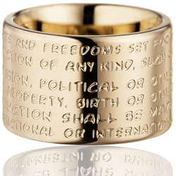 GILARDY HUMAN RIGHTS Ring R2 flat stainless steel rosé/champagne