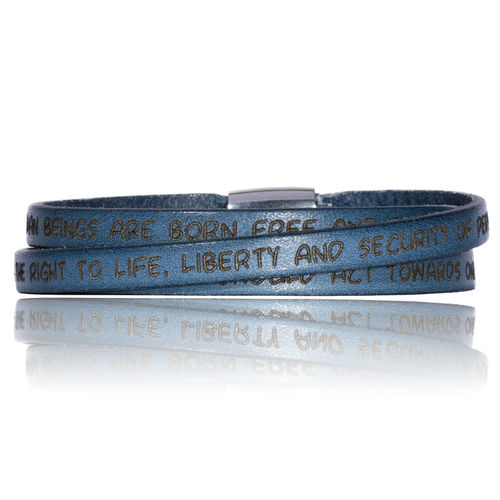 GILARDY HUMAN RIGHTS Leatherbracelet BR1 Jeans