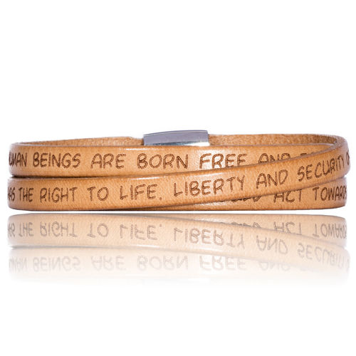 GILARDY HUMAN RIGHTS Leatherbracelet BR1 Nature