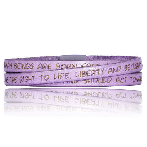GILARDY HUMAN RIGHTS Leatherbracelet BR1 Lilac