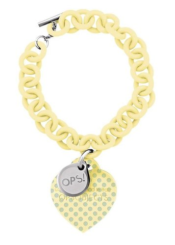 OPS!OBJECTS Bracelet yellow with light blue points stainless steel OPSBR-91-1800