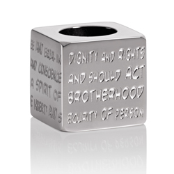 GILARDY HUMAN RIGHTS Cube CU1 square stainless steel silver