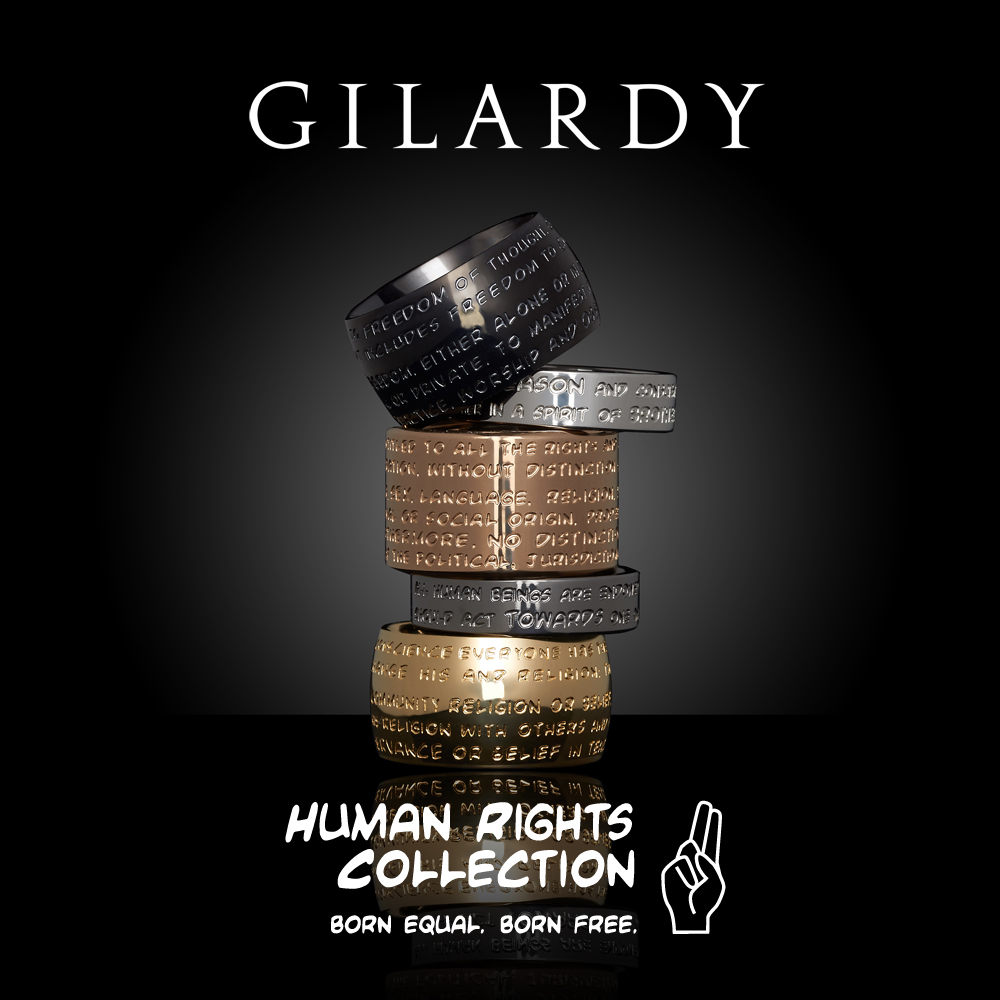 ... GILARDY HUMAN RIGHTS Cube CU1 square stainless steel silver ... edf59cbeb31